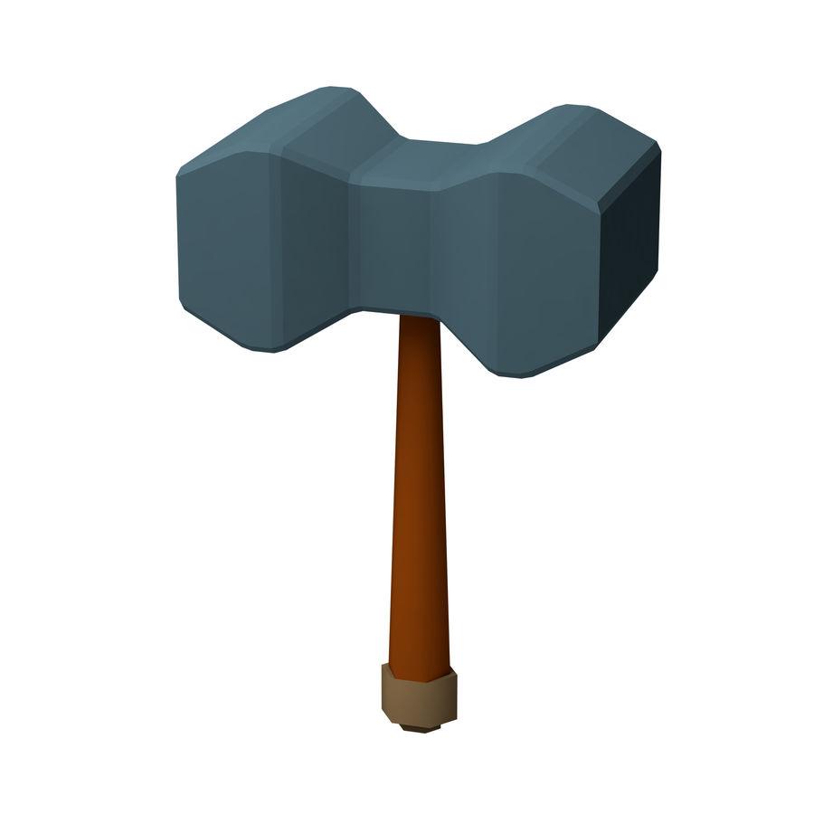 hache de l'épée poly faible dessin animé royalty-free 3d model - Preview no. 10