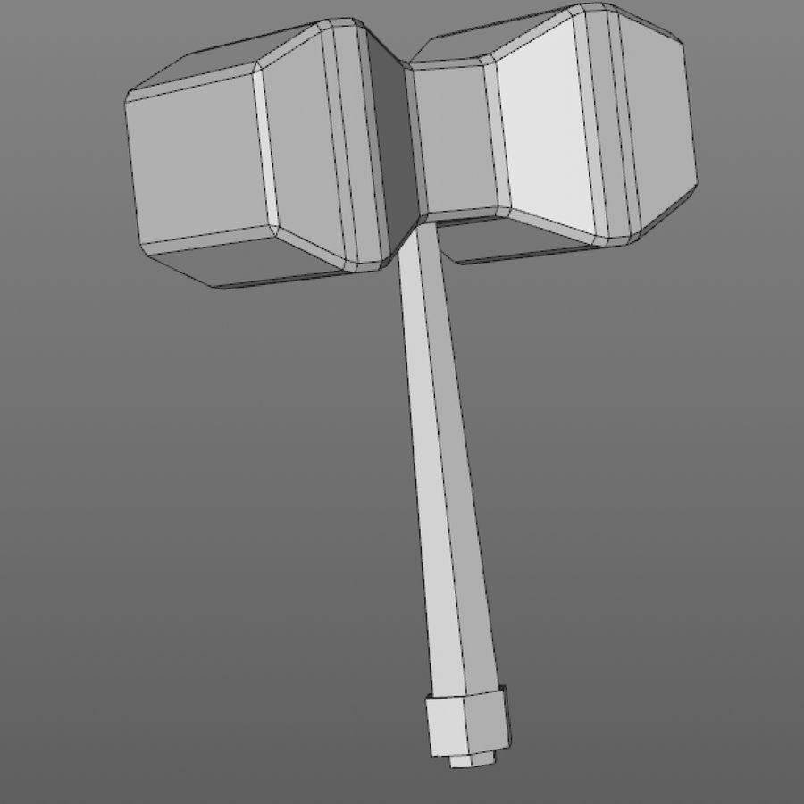 hache de l'épée poly faible dessin animé royalty-free 3d model - Preview no. 16