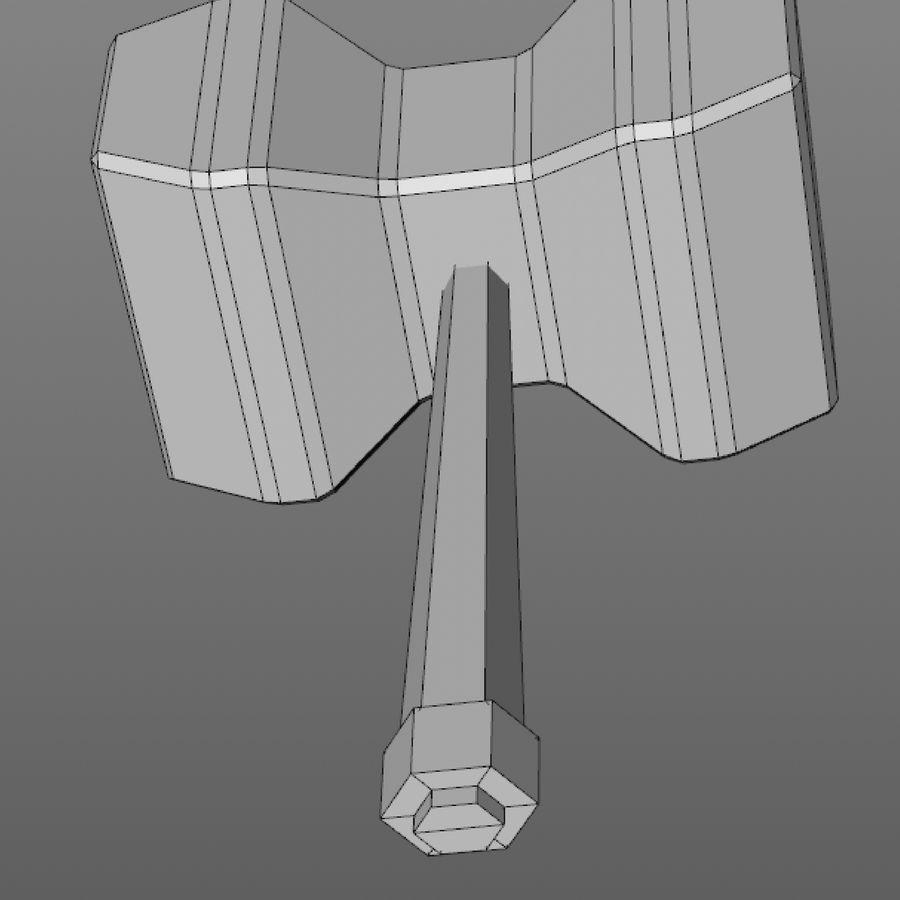 hache de l'épée poly faible dessin animé royalty-free 3d model - Preview no. 18