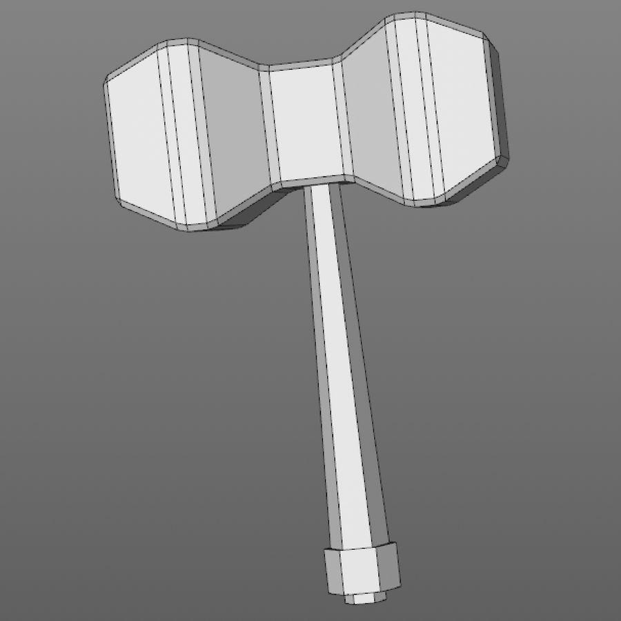 hache de l'épée poly faible dessin animé royalty-free 3d model - Preview no. 17