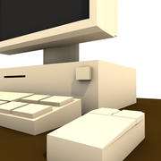 Komputer Lowpoly 3d model