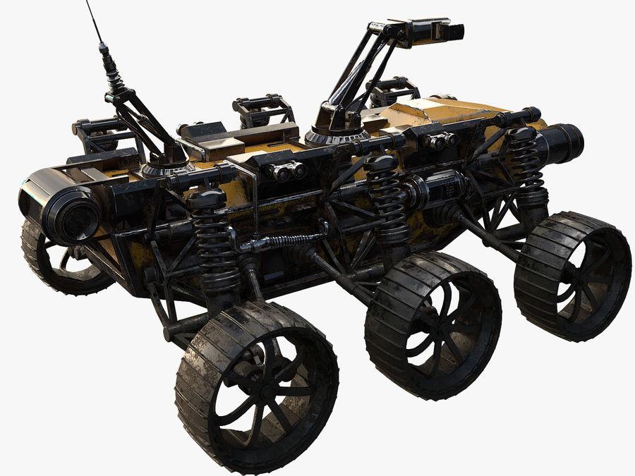 Robot wojskowy - łazik royalty-free 3d model - Preview no. 4