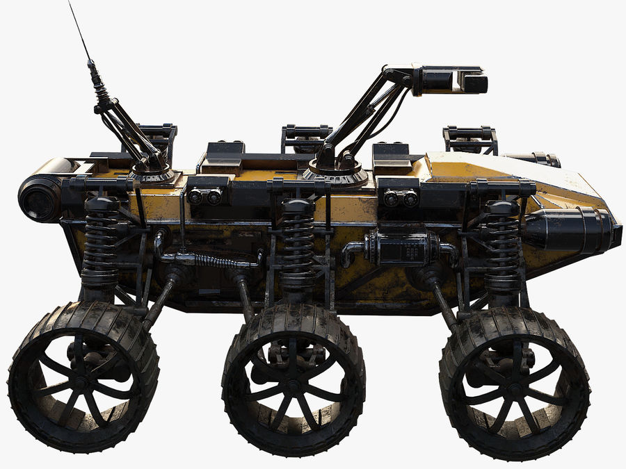 Military Robot - Rover royalty-free 3d model - Preview no. 3