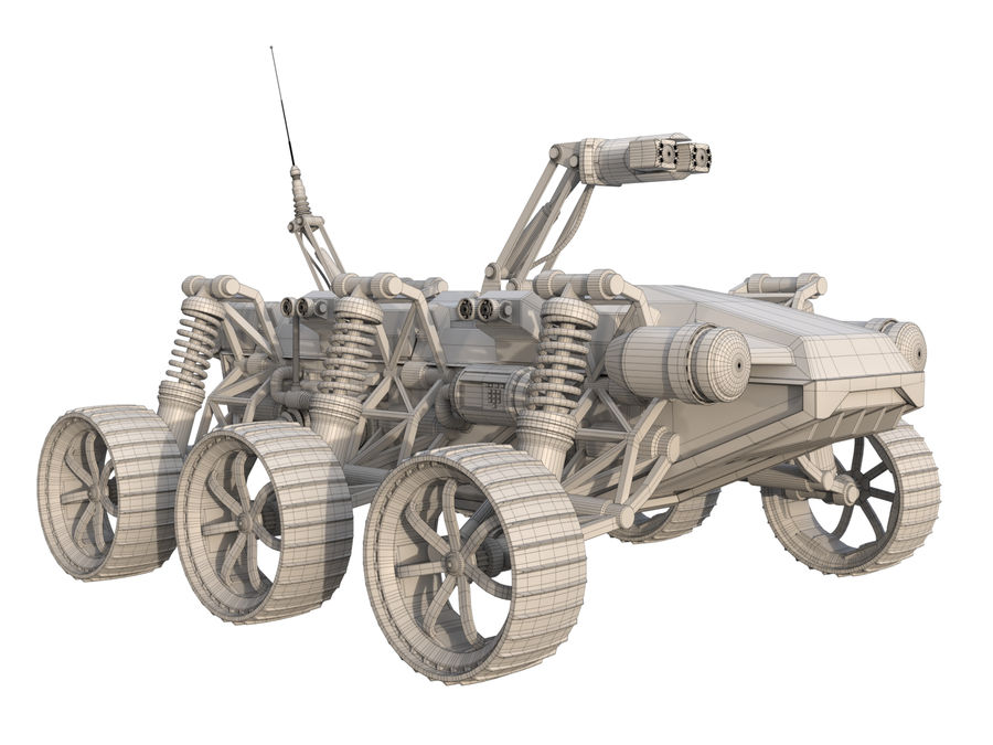 Military Robot - Rover royalty-free 3d model - Preview no. 7