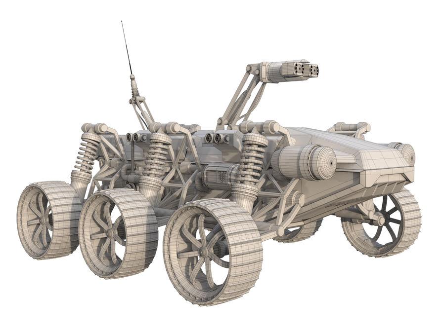 Robot wojskowy - łazik royalty-free 3d model - Preview no. 7