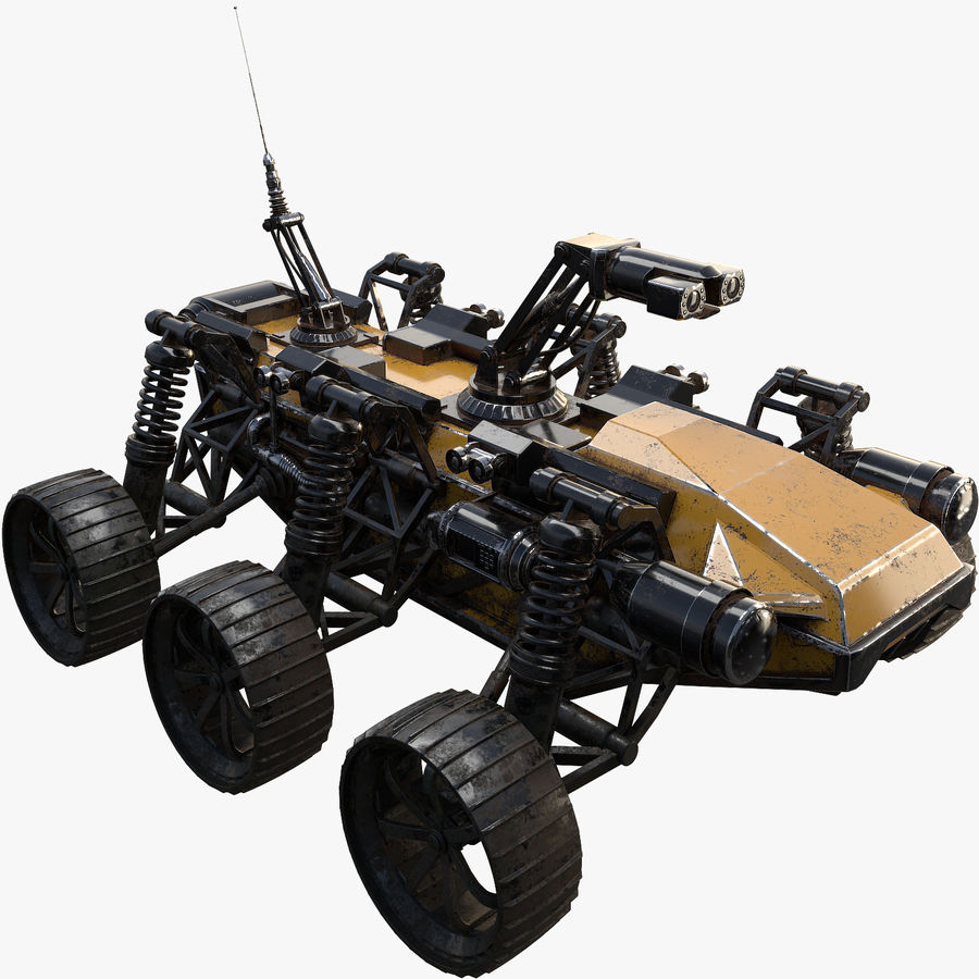 Military Robot - Rover royalty-free 3d model - Preview no. 1