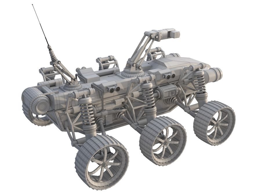 Military Robot - Rover royalty-free 3d model - Preview no. 9