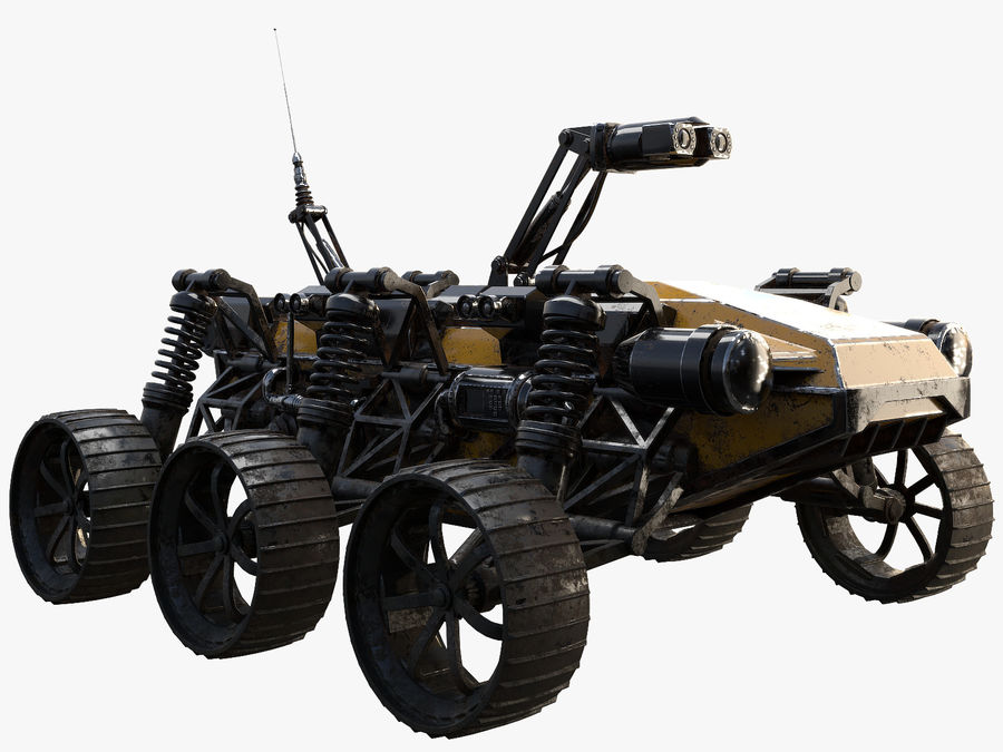 Military Robot - Rover royalty-free 3d model - Preview no. 2