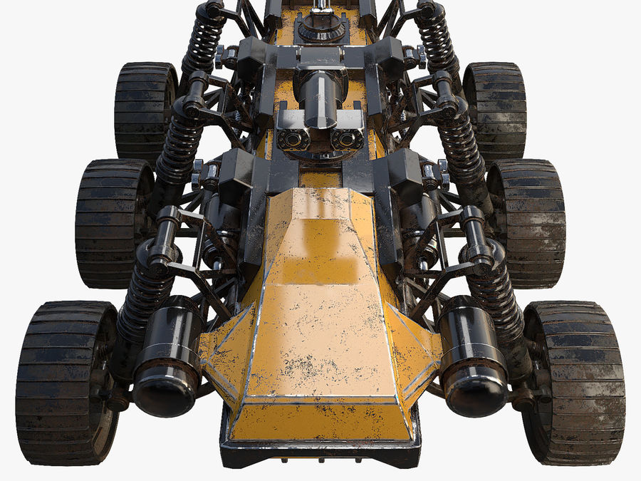 Military Robot - Rover royalty-free 3d model - Preview no. 5