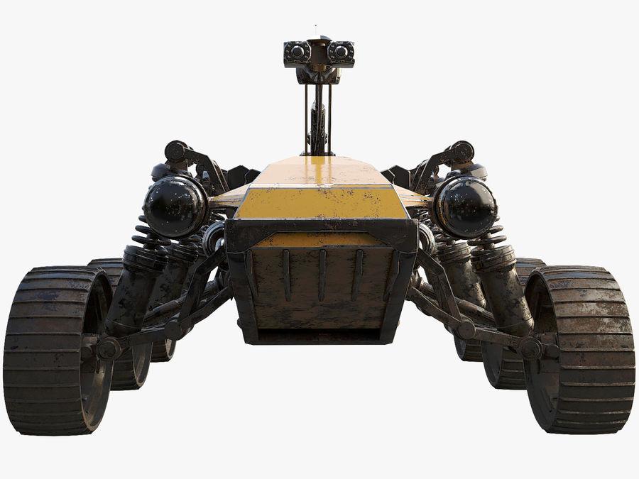 Robot wojskowy - łazik royalty-free 3d model - Preview no. 6