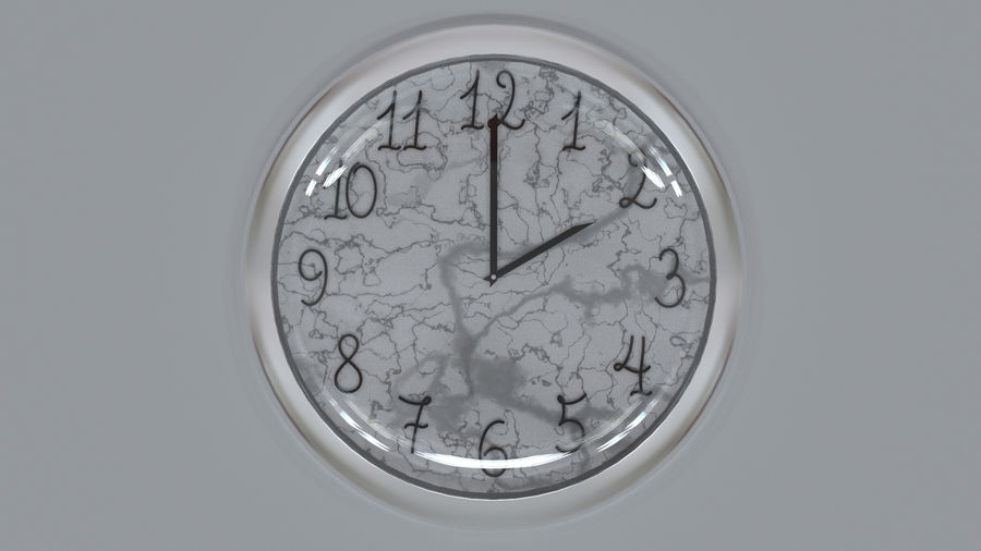 Wall clock royalty-free 3d model - Preview no. 1