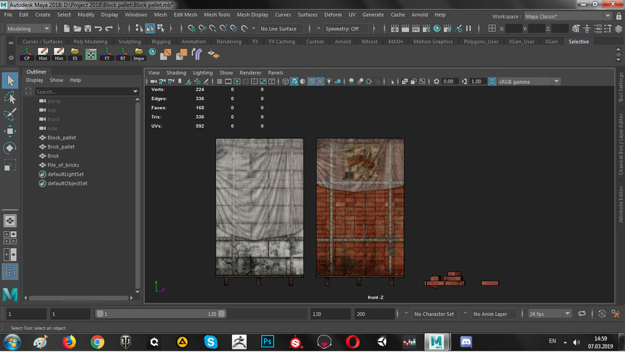 Block Brick pallet royalty-free 3d model - Preview no. 13