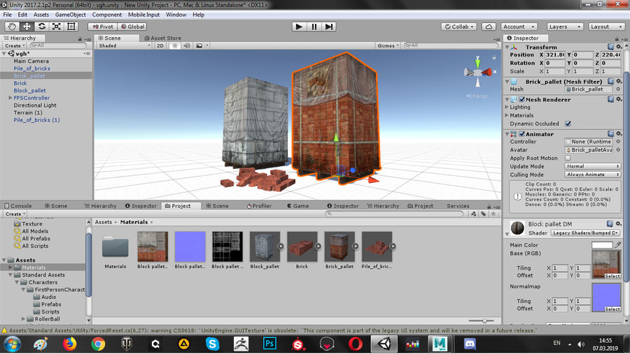 Block Brick pallet royalty-free 3d model - Preview no. 15