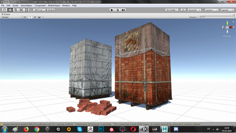 Block Brick pallet royalty-free 3d model - Preview no. 14
