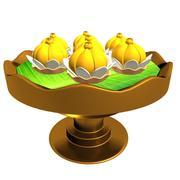 Thai dessert 3d model