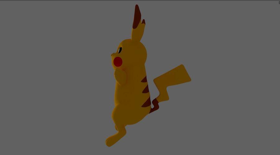 Pokemon Pikachu royalty-free 3d model - Preview no. 4