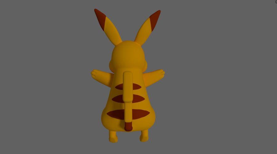 Pokemon Pikachu royalty-free 3d model - Preview no. 2