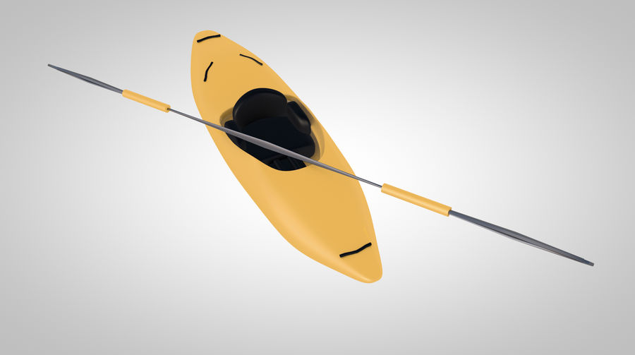kayak y remo royalty-free modelo 3d - Preview no. 1