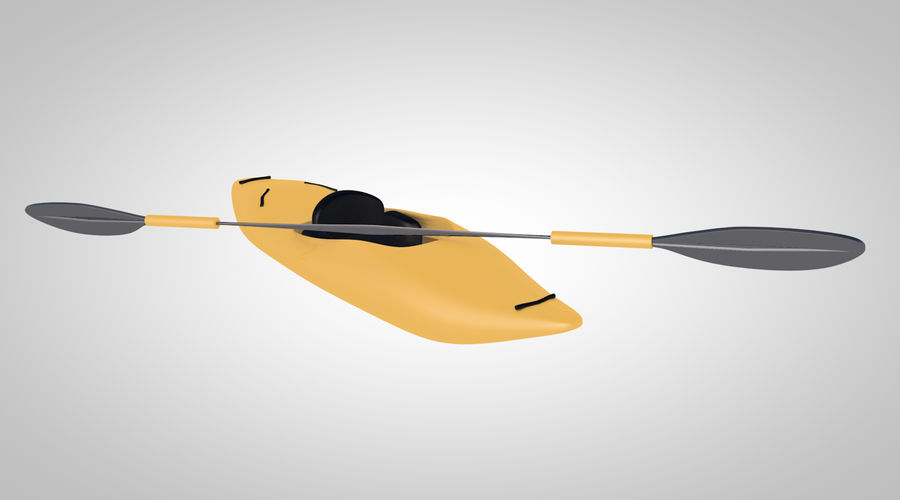 kayak y remo royalty-free modelo 3d - Preview no. 5