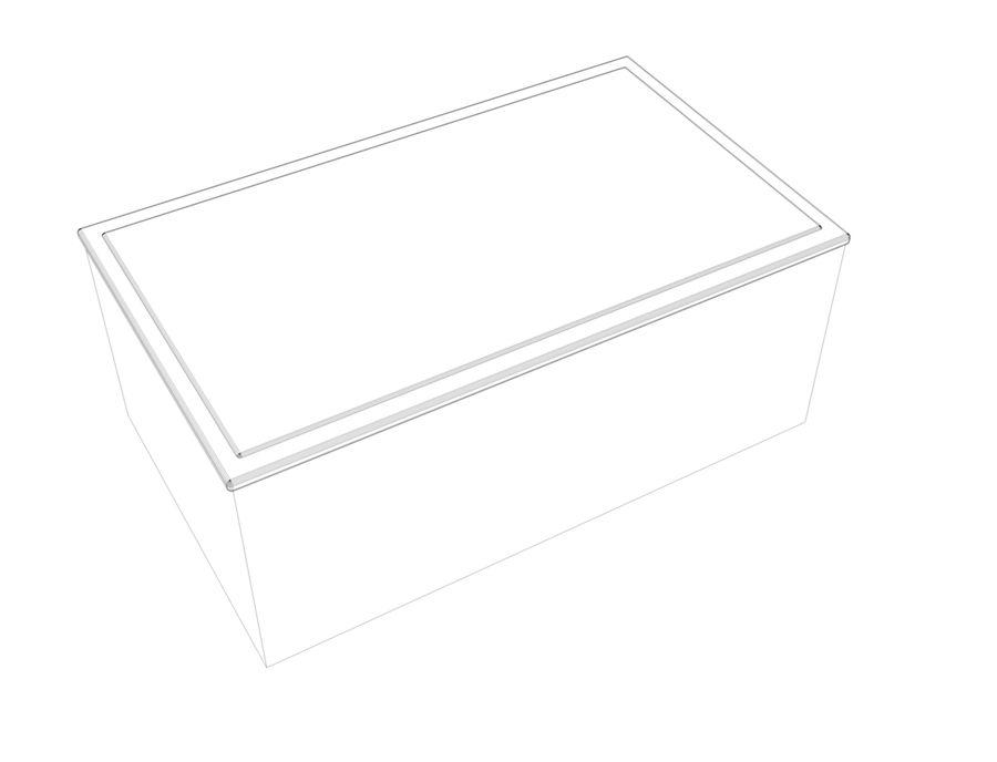 biurko royalty-free 3d model - Preview no. 3