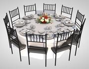 обеденный стол 3d model