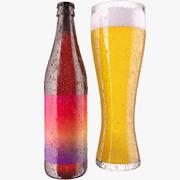 Коллекция пива и бутылок 3d model