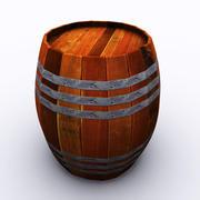 木製の樽 3d model