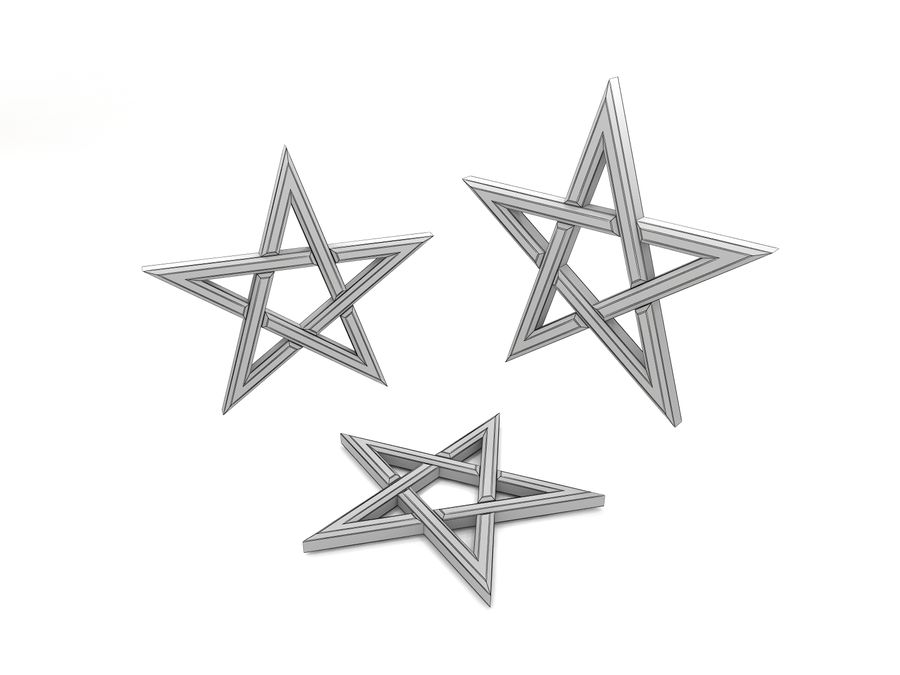 Pentagram 3D Model $5 -  unknown  stl  obj  max  fbx  3ds