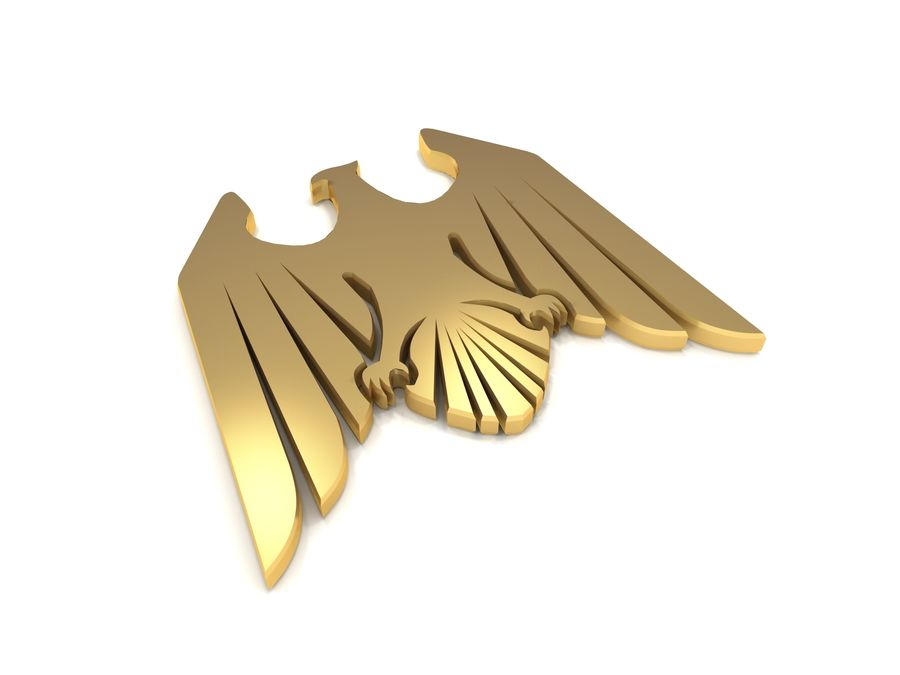 Aquila royalty-free 3d model - Preview no. 3