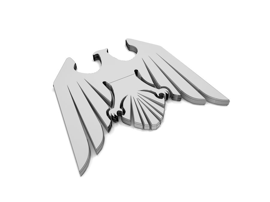 Aquila royalty-free 3d model - Preview no. 4