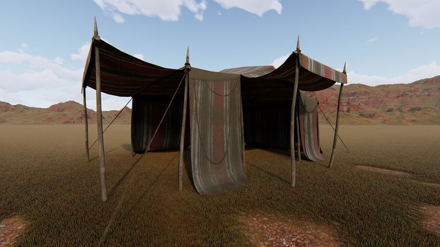 tente (1) royalty-free 3d model - Preview no. 1