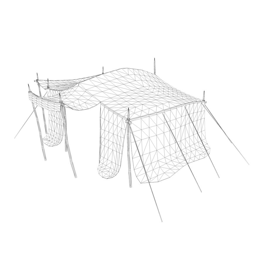 tente (1) royalty-free 3d model - Preview no. 14