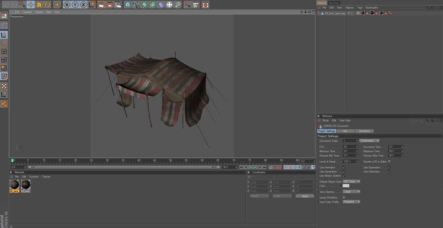 tente (1) royalty-free 3d model - Preview no. 2