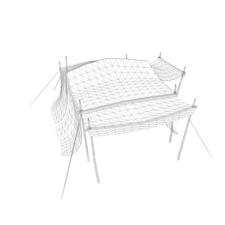 tente (1) royalty-free 3d model - Preview no. 12