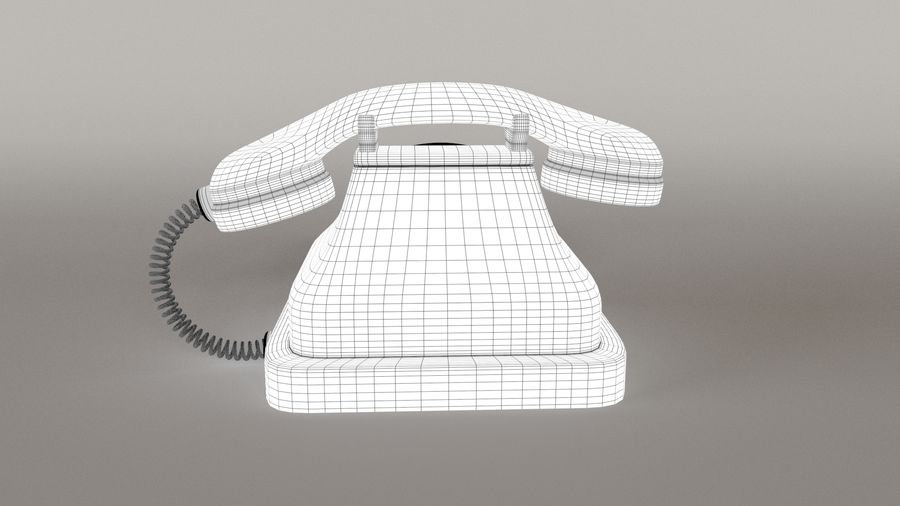 Old Telephone royalty-free 3d model - Preview no. 9