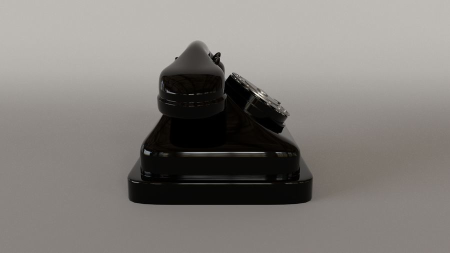 Old Telephone royalty-free 3d model - Preview no. 5