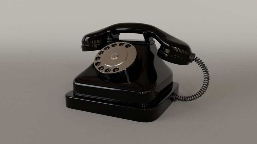 Old Telephone royalty-free 3d model - Preview no. 1