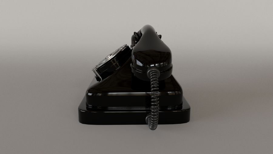 Old Telephone royalty-free 3d model - Preview no. 4