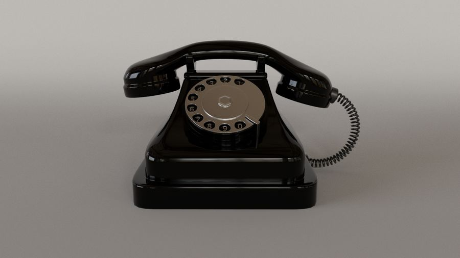 Old Telephone royalty-free 3d model - Preview no. 3