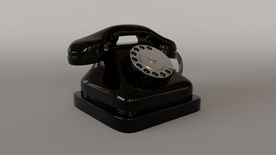 Old Telephone royalty-free 3d model - Preview no. 2