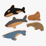 Pesci giocattolo in legno 3d model