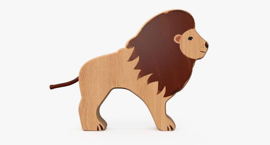 Animali giocattolo in legno royalty-free 3d model - Preview no. 4