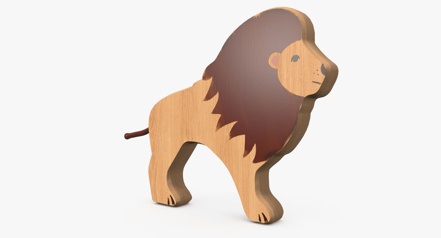 Animali giocattolo in legno royalty-free 3d model - Preview no. 11