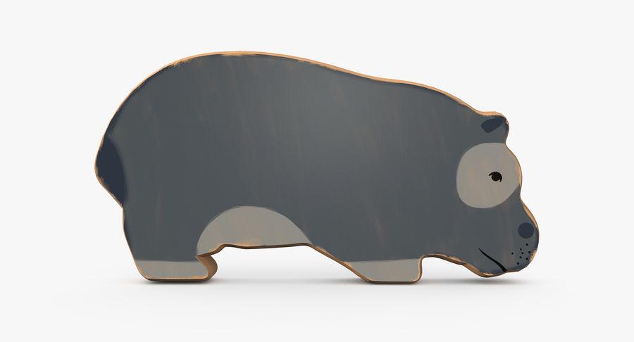 Animales de juguete de madera royalty-free modelo 3d - Preview no. 6
