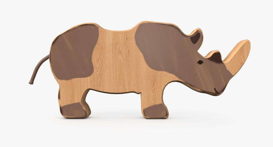 Animali giocattolo in legno royalty-free 3d model - Preview no. 5