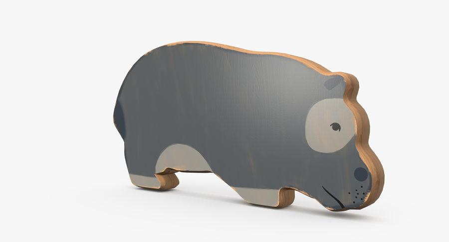 Animali giocattolo in legno royalty-free 3d model - Preview no. 12