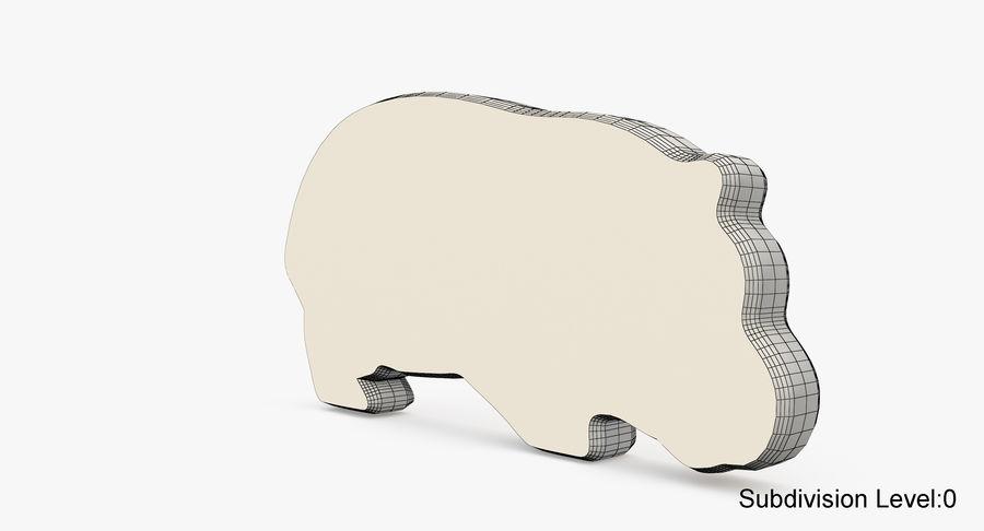 Animali giocattolo in legno royalty-free 3d model - Preview no. 17