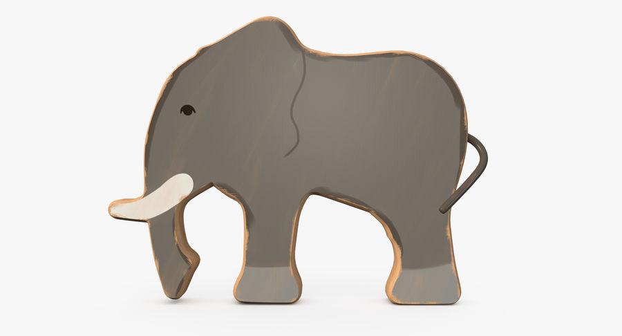 Animali giocattolo in legno royalty-free 3d model - Preview no. 8