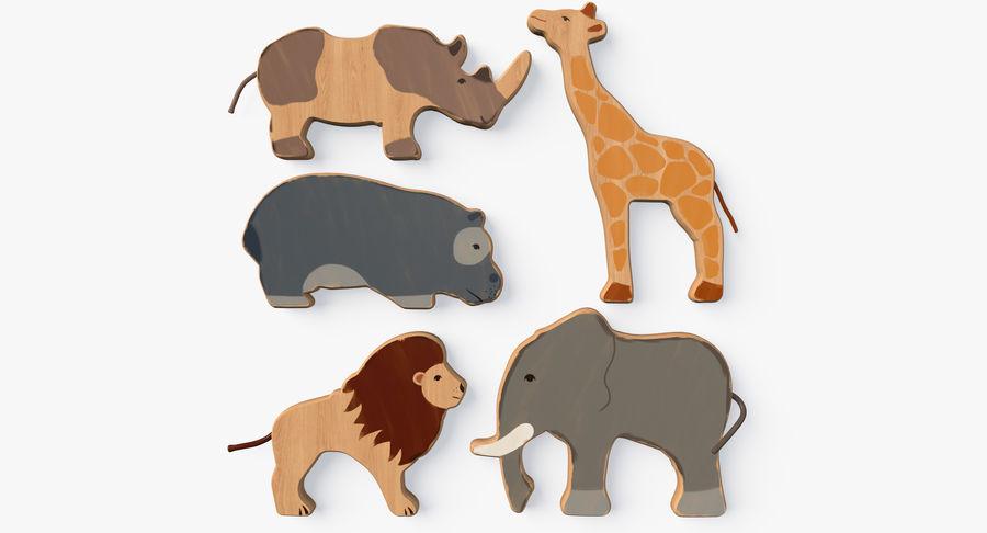 Animali giocattolo in legno royalty-free 3d model - Preview no. 2