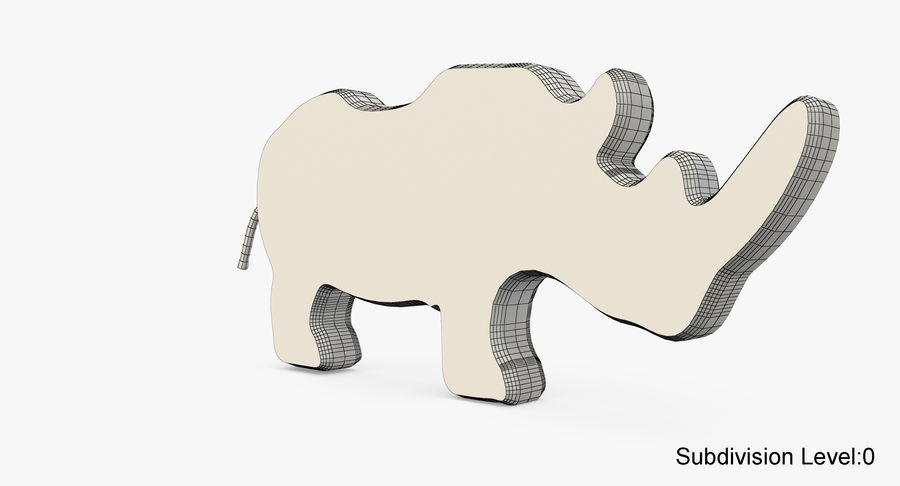 Animales de juguete de madera royalty-free modelo 3d - Preview no. 18